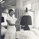 美容室2階での施術。(昭和30年頃)
