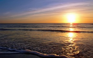 Sunset-on-Seascale-Beach