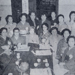 第一回の東京都美容師試験委員。前列左端が永車梅野。